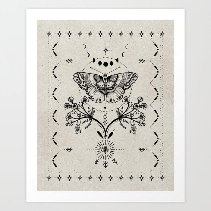 Magical Moth Kunstdrucke