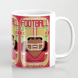 American Football Red and Gold - Hail-Mary Blitzsacker - Aretha version Coffee Mug