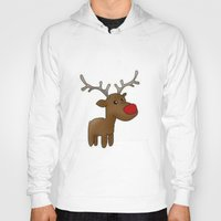 reindeer Hoodies featuring Reindeer by Iotara