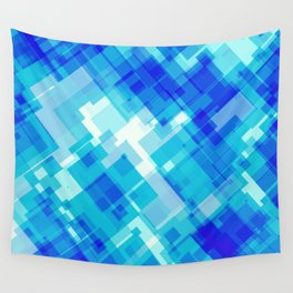 Digital Blue Pool Wall Tapestry