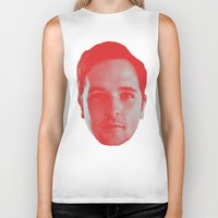 chad wys Biker Tanks featuring Chad Head by Blake Makes Tees