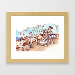 Girl Captain and her Koala Framed Art Print