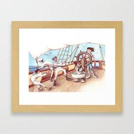 Girl Captain and her Koala Framed Art Print