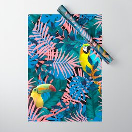 Tropical Jungle Toucan Parrot Wrapping Paper