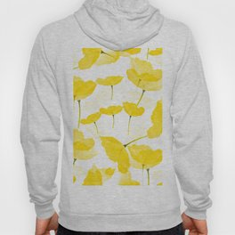 Light Yellow Poppies Spring Summer Mood #decor #society6 #buyart Hoody