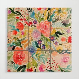 Flower Joy Wood Wall Art