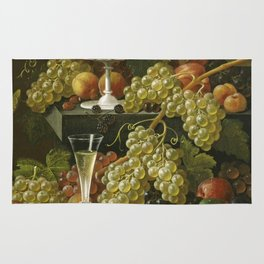 Severin Roesen - Fruit And Wine Glass Rug