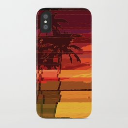 Tropical Glitchset iPhone Case
