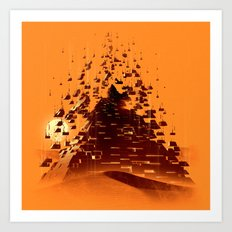 Construction of a Pyramid Art Print