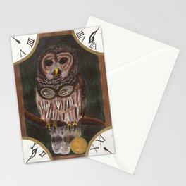 Steampunk Owl Print Stationery Cards