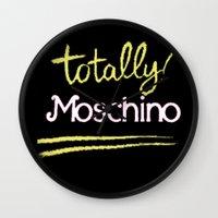 moschino Wall Clocks featuring Totally Moschino Black by RickyRicardo787