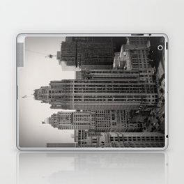 Chicago Tribune Tower Building Black and White Photo Laptop & iPad Skin
