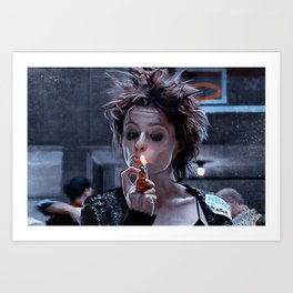 Marla Singer Smokes A Cigarette During Group Therapy - Fight Art Print