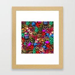 Men and Mutants Color Framed Art Print