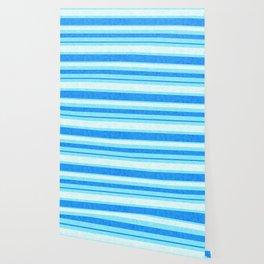Bright Blue Grunge Stripes Texture Wallpaper