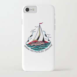 Helms Alee Sailboat iPhone Case