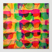 sunglasses Canvas Prints featuring Sunglasses by Kaos and Kookies