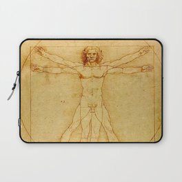"Leonardo da Vinci ""The Vitruvian Man"" Laptop Sleeve"