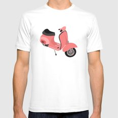 Vespa Mens Fitted Tee White MEDIUM