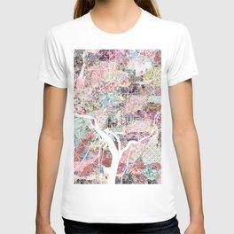 Washington map flowers T-shirt