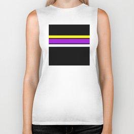 Team Colors 2 ...yellow , purple black background Biker Tank