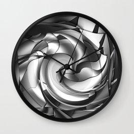 Black, grey, white abstract Wall Clock