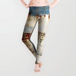 Blue and Rust 1 Leggings