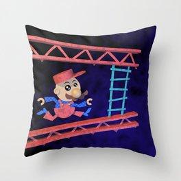 Run Mario run Throw Pillow