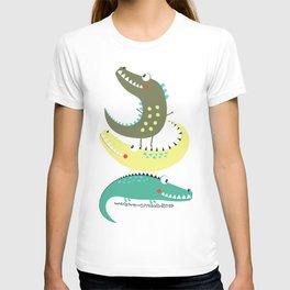 Crocodile Tower Cute Adorable Fun Print T-shirt