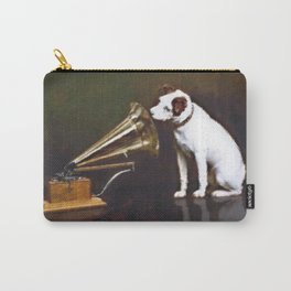 His Master's Voice Vintage Animal Digital Watercolor Carry-All Pouch