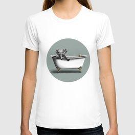 Elephant in Bath T-shirt