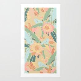 Hawaiian Ginger Floral in Sorbet Art Print