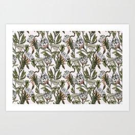 Pattern botanical boho Art Print