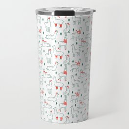 Holiday Llamas Travel Mug
