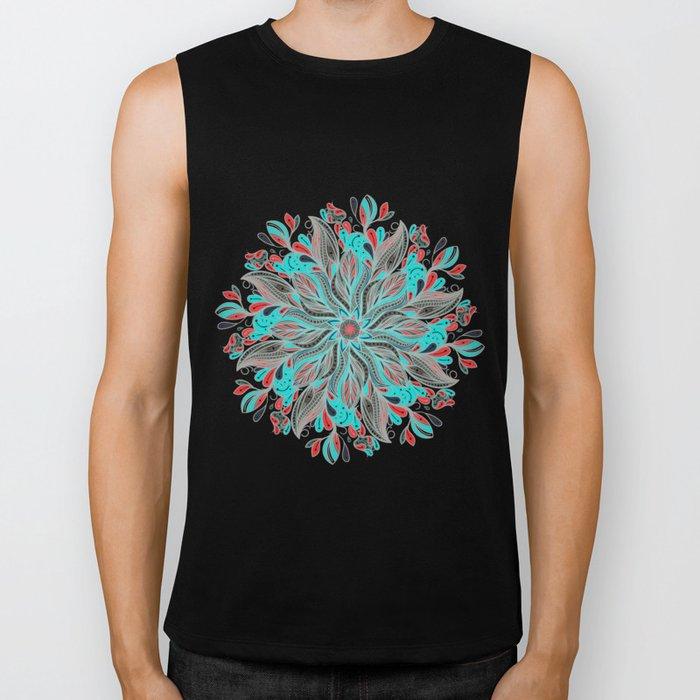 Mandala Flower Biker Tank