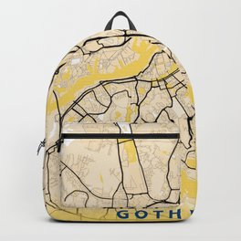 Gothenburg Yellow City Map Backpack