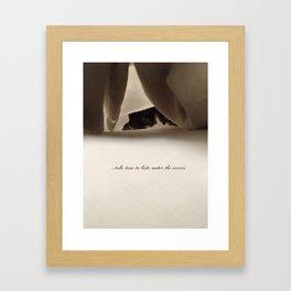 Take time Framed Art Print