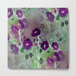 Magical Purple Flower Garden Metal Print
