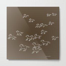 Horses Running Metal Print