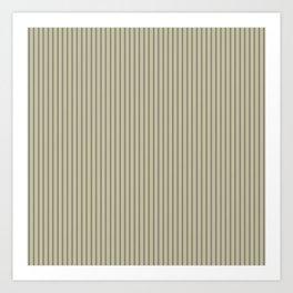 Brown ticking stripes Art Print
