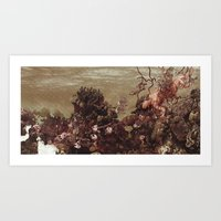 kozyndan Art Prints featuring Because of Me, I Lay to Rest with You by kozyndan