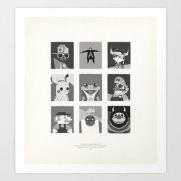 Super Mercredi Bros Heroes (8/8) Art Print