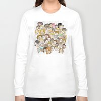 it crowd Long Sleeve T-shirts featuring Crowd by cmdonodraws