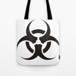 White Biologic Hazard Warning signal Tote Bag