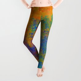 Abstract in Washed Textures Leggings