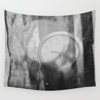clock Wall Tapestries featuring CLOCK by Madeleine Brown