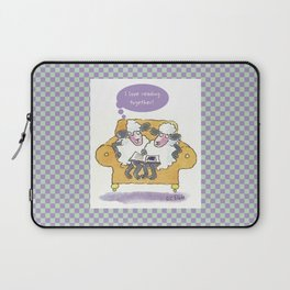 Sheep Reading in a Big Chair Laptop Sleeve