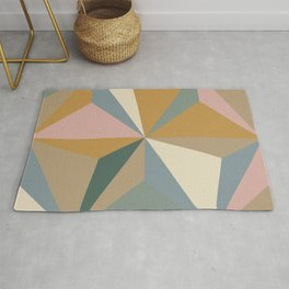 Pastel Triangles Rug