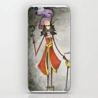 hook iPhone & iPod Skins featuring Pan & Hook by Jena Sinclair