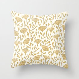 Golden chrysanthemums Throw Pillow